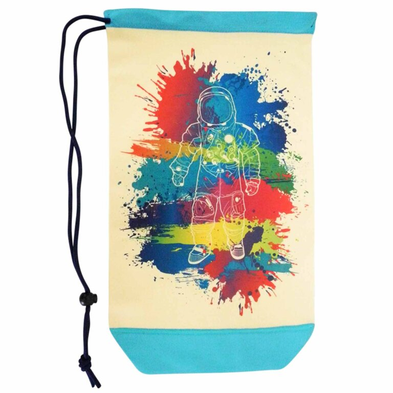 Spaceman Drawstring Backpack