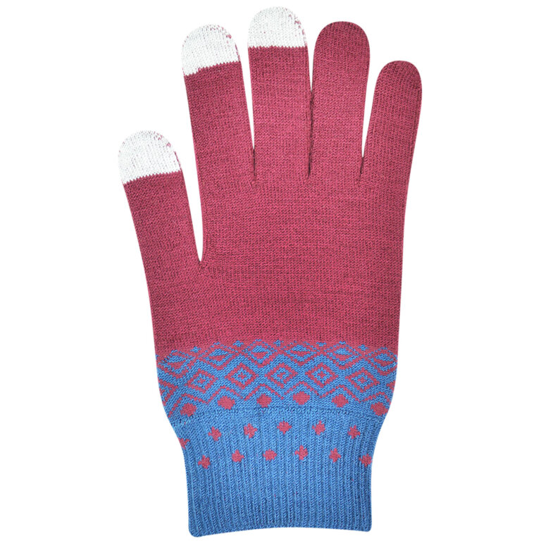 Burgundy Red Touch Screen Gloves