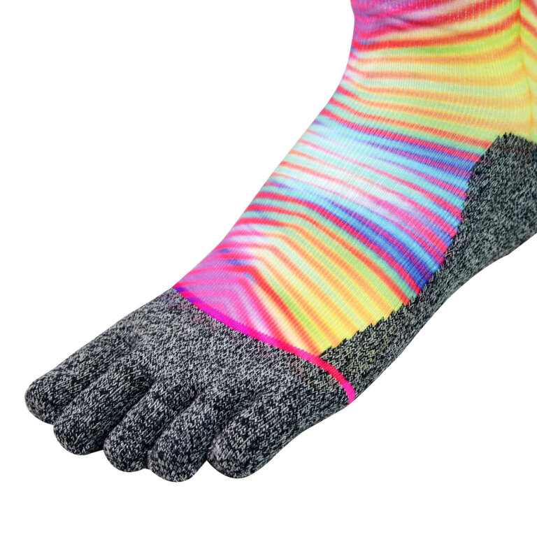 Neon Print Five-Toe Socks