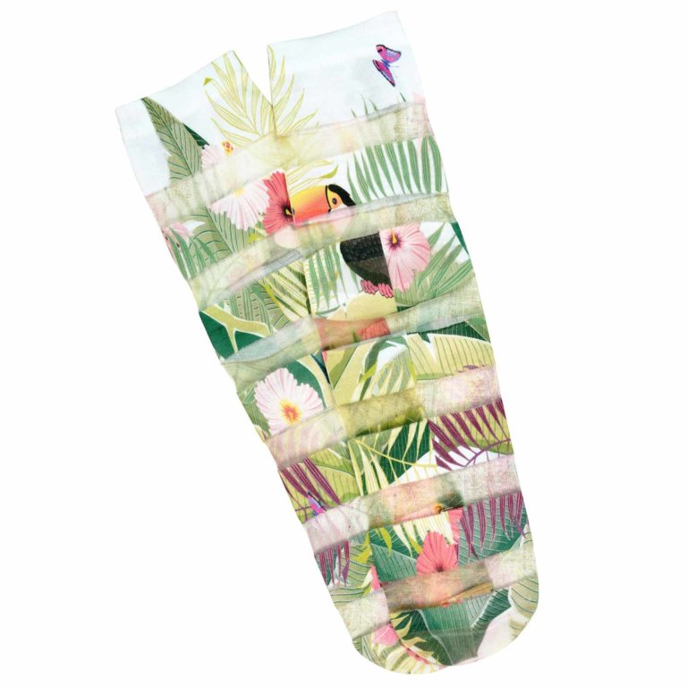Floral Print Fashion Socks-01