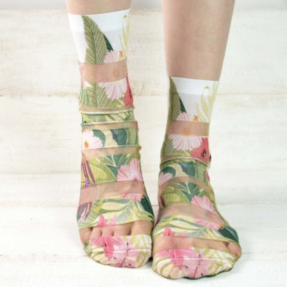 Floral Print Fashion Socks-02