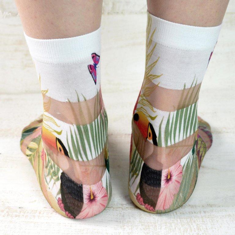 Floral Print Fashion Socks-03