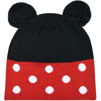 Kids Dots Beanie With Pom Pom
