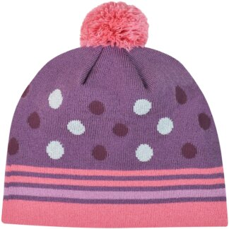 Girl Dots Beanie With Pom Pom