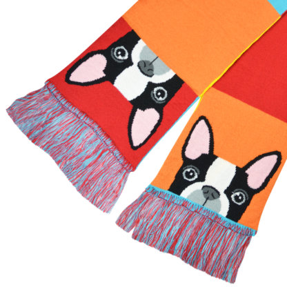 Bulldog Muffler With Tassels-02