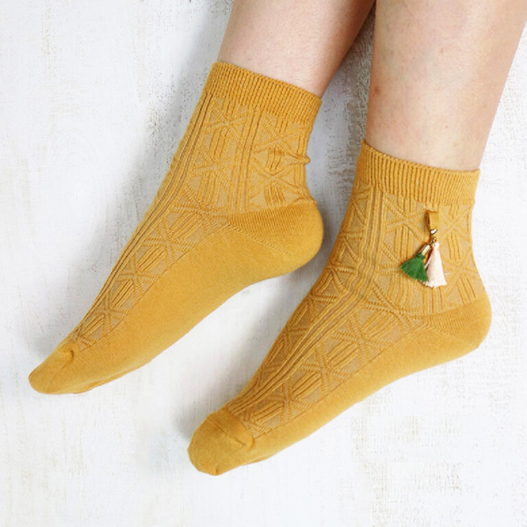 Charm Tassel Socks