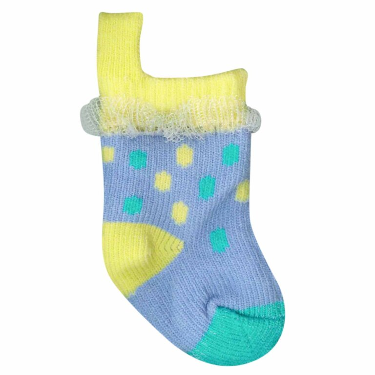Lace And Dots Decoration Mini Sock