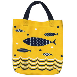 Fish Knitting Tote Bag