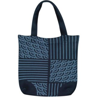 Waves Pattern Knitting Tote Bag