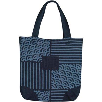 Waves Pattern Knitting Tote Bag