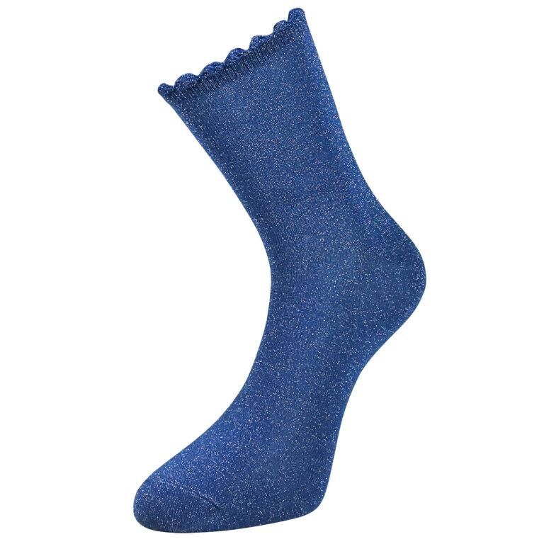 Fashion Cotton Glitter Sock in Blue Color