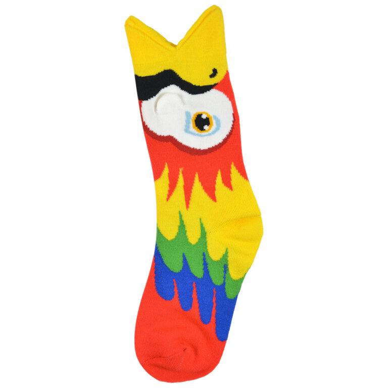 Fashion Cotton 3D Design kids Sock with Red Parrot
