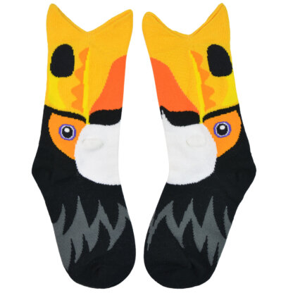 Fashion Cotton 3D Design kids Sock with Toucan