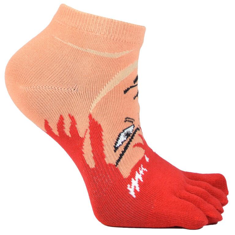 Fashion Toe Sock with High School Boy