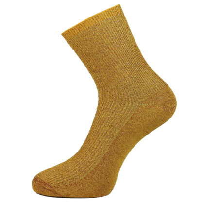 Fashion Cotton Glitter Sock in Yellow Color