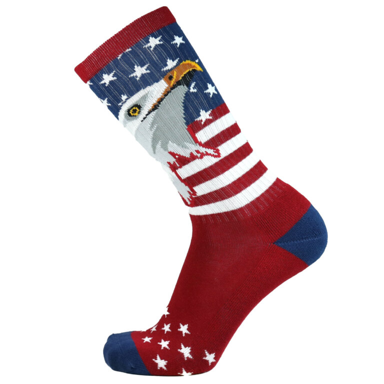Fashion Cotton Crew Terry Sock with Eagle