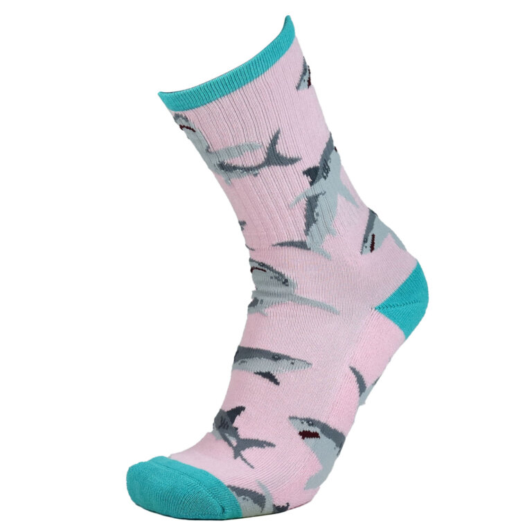 Fashion Cotton Crew Terry Sock with Shark