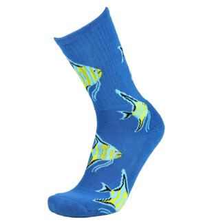 Fashion Cotton Crew Terry Sock with Fish