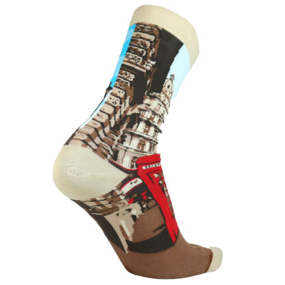 Fashion Cotton Crew Flat Sock with City London