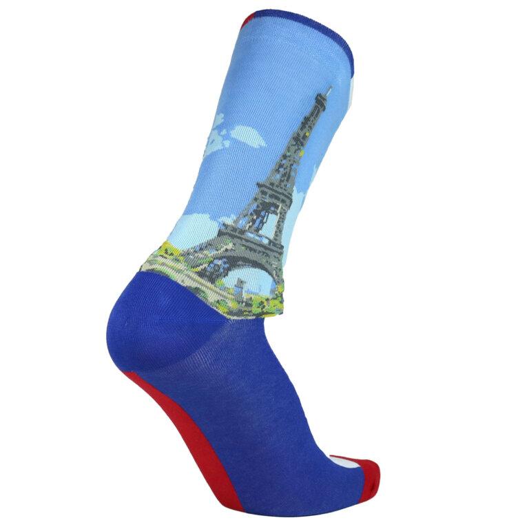 Fashion Cotton Crew Flat Sock with City Paris