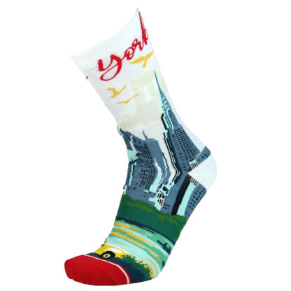 Fashion Cotton Crew Flat Sock with City New York