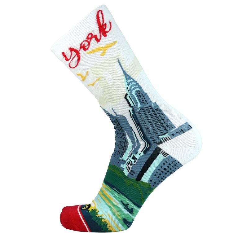 Fashion Cotton Crew Flat Sock with City New York