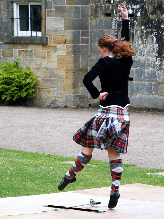A dancer wears socks